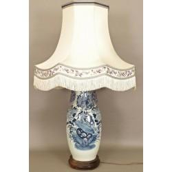 Grande Lampe Chinoise En Porcelaine