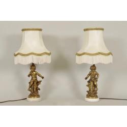 Paire De Lampes Signées Moreau