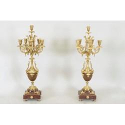 Paire De Candélabres Style Louis XVI