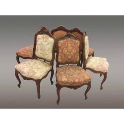 Suite De Six Chaises Style Louis XV