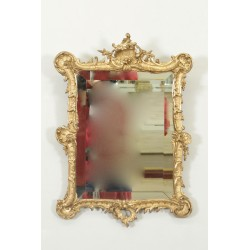 Miroir style Louis XV bois doré Napoléon III