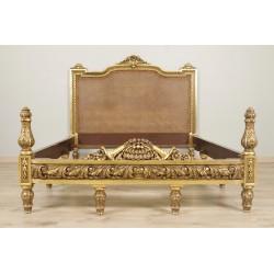 Lit bois doré Napoléon II