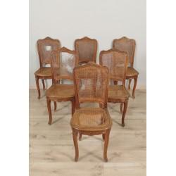 Chaises Cannées Style Louis XV