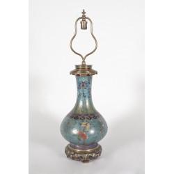Lampe Gagneau style Extrême-Orient en cloisonné