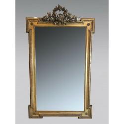 Miroir style Louis XVI bois doré Napoléon III